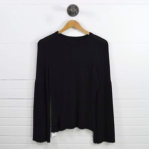 PLEATED BELL SLEEVE CASHMERE SWEATER #170-297